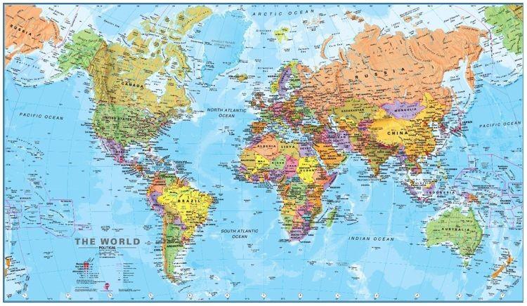 Świat. Mapa ścienna - polityczna - 197 x 117 cm