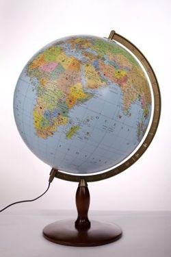 globus dekoracyjny 420mm polityczno fizyczny pod wietlany globusy du e 42 50 cm. Black Bedroom Furniture Sets. Home Design Ideas