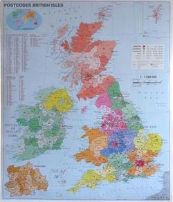 Wielka Brytania Mapa Magnetyczna Kodowa 97 X 119 Cm Mapy