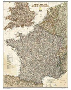 Francja Belgia Holandia Mapa Polityczna Executive Do Wpinania