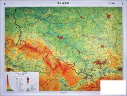 Slask Mapa Scienna Ogolnogeograficzna Krajobrazowa 160 X