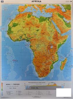 Afryka Mapa Scienna Dwustronna Fizyczna 110 X 150 Cm Mapy