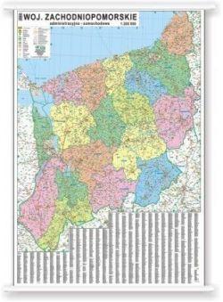 Wojewodztwo Zachodniopomorskie Mapa Magnetyczna Administracyjno