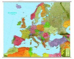 Europa Mapa Scienna Polityczno Drogowa 185 X 140 Cm Mapy
