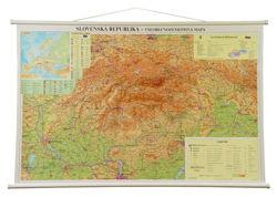 Slowacja Mapa Scienna Fizyczna 127 X 87 Cm Mapy Scienne