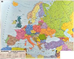 Europa Mapa Scienna Dwustronna Polityczna Rozmieszczenie