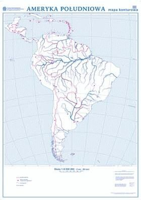 Ameryka Poludniowa Mapa Scienna Dwustronna Polityczna
