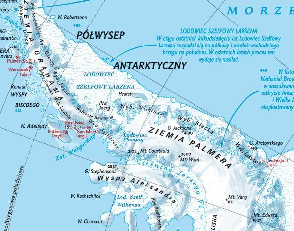 Antarktyda Mapa Scienna Fizyczna 150 X 110cm Mapy Scienne