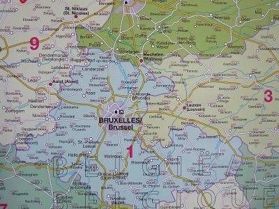 Beneluks Belgia Holandia Luksemburg Mapa Scienna Kody