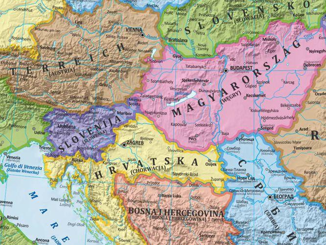 Europa Mapa Scienna Polityczna 140 X 100 Cm Mapy Scienne