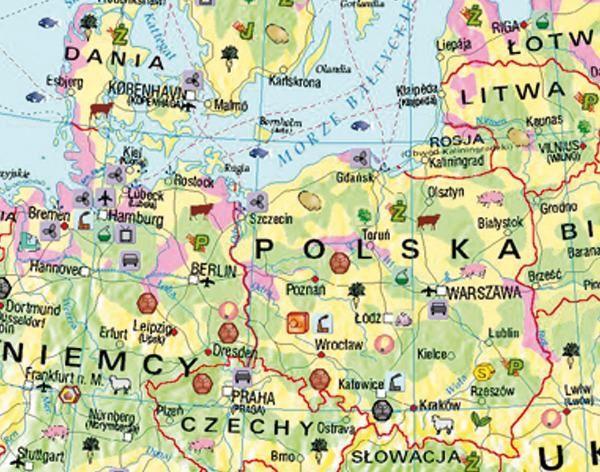 Mapa Scienna Gospodarcza Europy 150 X 110 Cm Plansze Szkolne
