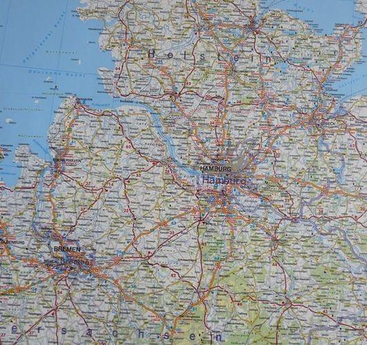 Niemcy Mapa Samochodowa Do Wpinania 93 X 128 Cm Mapy Do