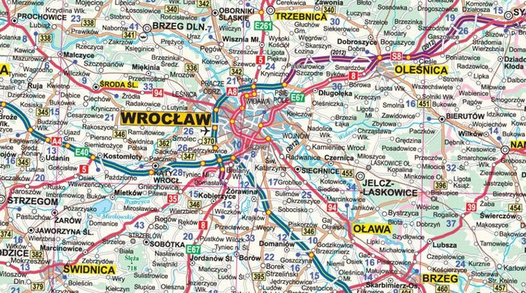 Polska Mapa Scienna Drogowa Do Wpinania 205 X 200 Cm Mapy
