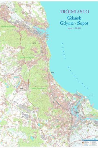 Trojmiasto Gdansk Gdynia Sopot Scienny Plan Miasta 113 X 170