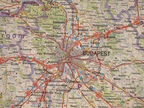 Wegry Mapa Samochodowa Do Wpinania 140 X 95 Cm Mapy Do
