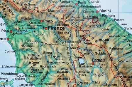 Wlochy Mapa Scienna Fizyczna 120 X 160 Cm Mapy Scienne