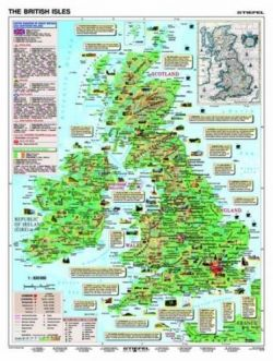 Fact about Great Britain. Plansza ścienna 2w1 - 120 x 160 cm